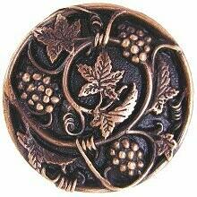 Notting Hill Cabinet Knob Grapevines Antique Copper 1-5/16