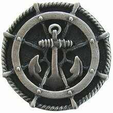 Notting Hill Cabinet Hardware Ship's Wheel Antique Pewter 1-5/16