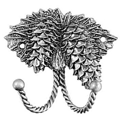 Sierra Lifestyles / Big Sky Cabinet Hardware Decorative Hook - Pinecone - Pewter