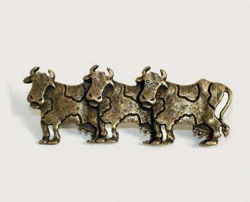 Emenee Decorative Cabinet Hardware 3 Cows Pull (Left) 4