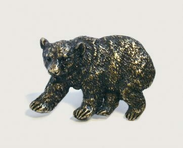 Emenee Decorative Cabinet Hardware Bear 2-1/8