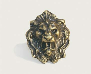 Emenee Decorative Cabinet Hardware Lion Head 1-1/2