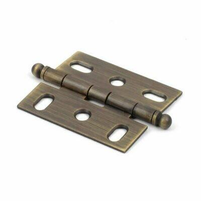 Century Cabinet Hardware Brass Hinge, Solid Brass, 1-3/4