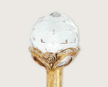 Emenee Decorative Cabinet Hardware Large Round Crystal 1-1/4