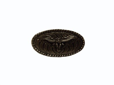 Buck Snort Lodge Decorative Hardware Cabinet Knobs and Pulls Steer Oval
