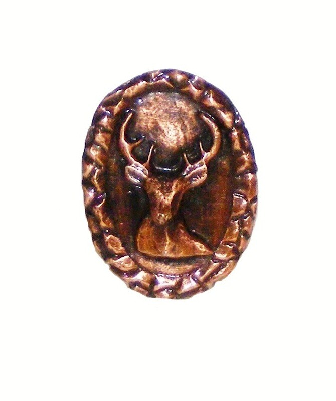 Buck Snort Lodge Decorative Hardware Cabinet Knobs and Pulls Small Whitetail Oval