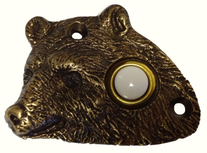 Buck Snort Lodge Decorative Hardware Bear Head Door Bell