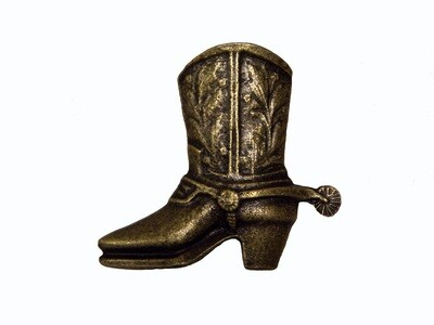 Buck Snort Lodge Hardware Cabinet Knobs Cowboy Boot Facing Left