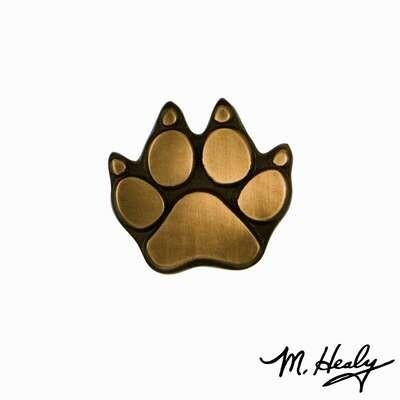 Michael Healy Designs Dog Paw Doorbell Ringer Bronze