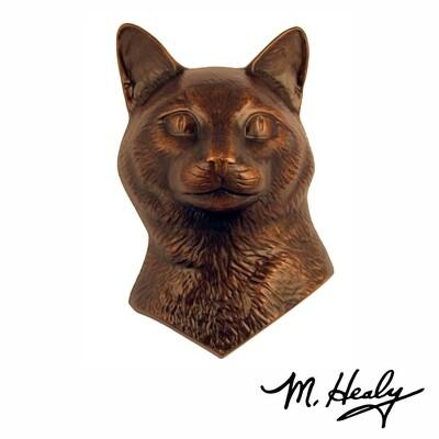 Michael Healy Designs Cat Door Knocker Oiled Bronze