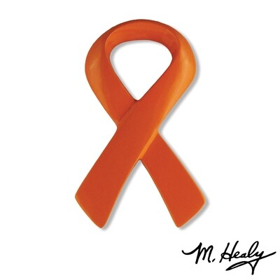 Michael Healy Designs Orange Awareness Ribbon Door Knocker Orange