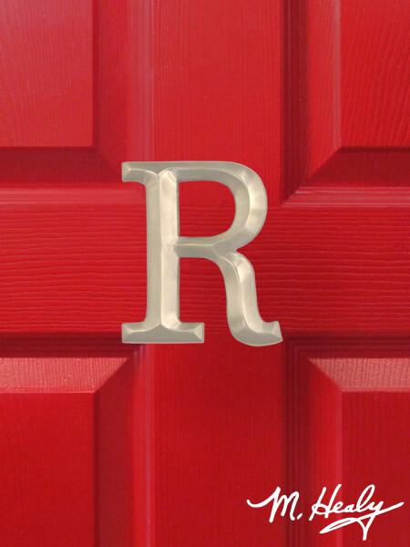 Michael Healy Designs Letter R Door Knocker - Brushed Nickel