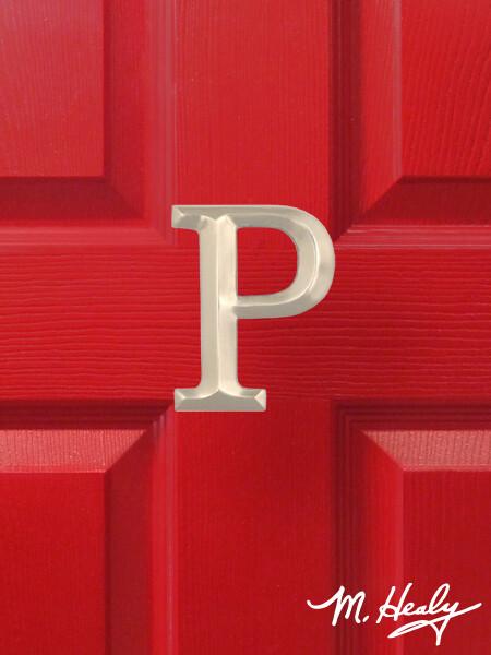 Michael Healy Designs Letter P Door Knocker - Brushed Nickel