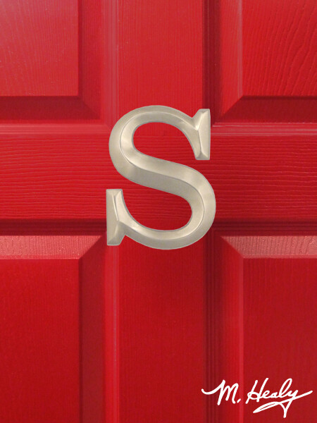 Michael Healy Design sLetter S Door Knocker - Brushed Nickel