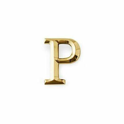 Michael Healy Designs Letter P Door Knocker - Brass