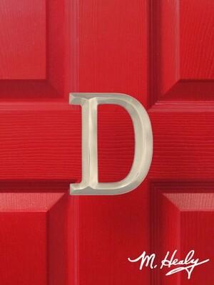 Michael Healy Designs Letter D Door Knocker - Brushed Nickel