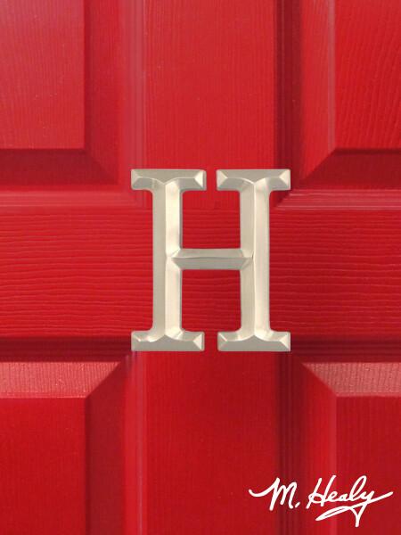 Michael Healy Designs Letter H Door Knocker - Brushed Nickel