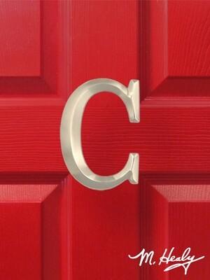 Michael Healy Designs Letter C Door Knocker - Brushed Nickel