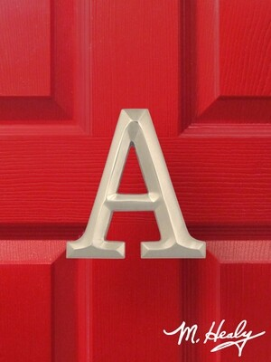 Michael Healy Designs Letter A Door Knocker - Brushed Nickel