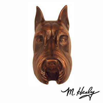 Michael Healy Designs Schnauzer Door Knocker Oiled Bronze