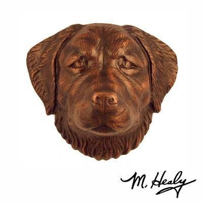 Michael Healy Designs Golden Retriever Door Knocker Oiled Bronze