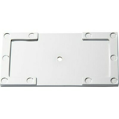 ATLAS HOMEWARES CABINET HARDWARE CAMPAIGN L-BRACKET BACKPLATE CHROME