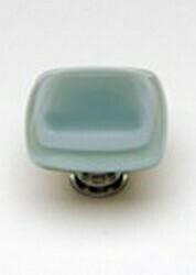 Sietto Glass Cabinet Knobs Stratum Spruce Green