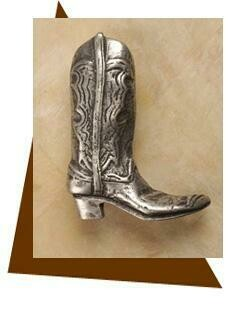 Anne At Home Cowboy Boot Cabinet Knob-Medium-Right
