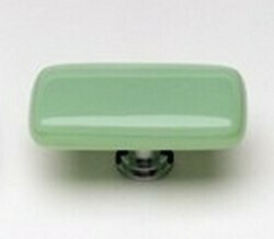 Sietto Glass Rectangular Cabinet Knobs Intrinsic Mint Green