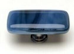 Sietto Glass Rectangular Cabinet Knobs Cirrus Marine Blue