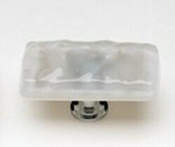 Sietto Glass Cabinet Rectangular Knobs Glacier  Blue Grey