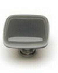 Sietto Glass Cabinet Knob Intrinsic  Silver Grey