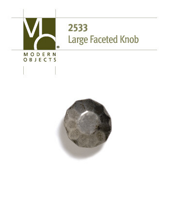 Modern Objects Designer Hardware Large Faceted Cabinet Knob