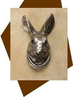 Anne At Home Hare Head Cabinet Knob