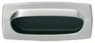 Hafele Cabinet Hardware, Mortise Pull, brass, nickel matt / black, 85 x 37mm
