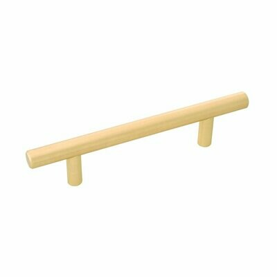 Belwith-Keeler Cabinet Hardware  Contemporary Bar Pulls Collection Pull 96 Millimeter Center to Center Royal Brass Finish