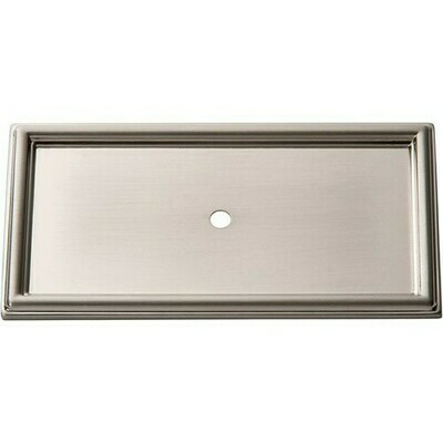 ATLAS HOMEWARES CABINET HARDWARE CAMPAIGN ROPE BACKPLATE  BRUSHED NICKEL