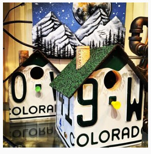 Birdhouse - Colorado License Plate