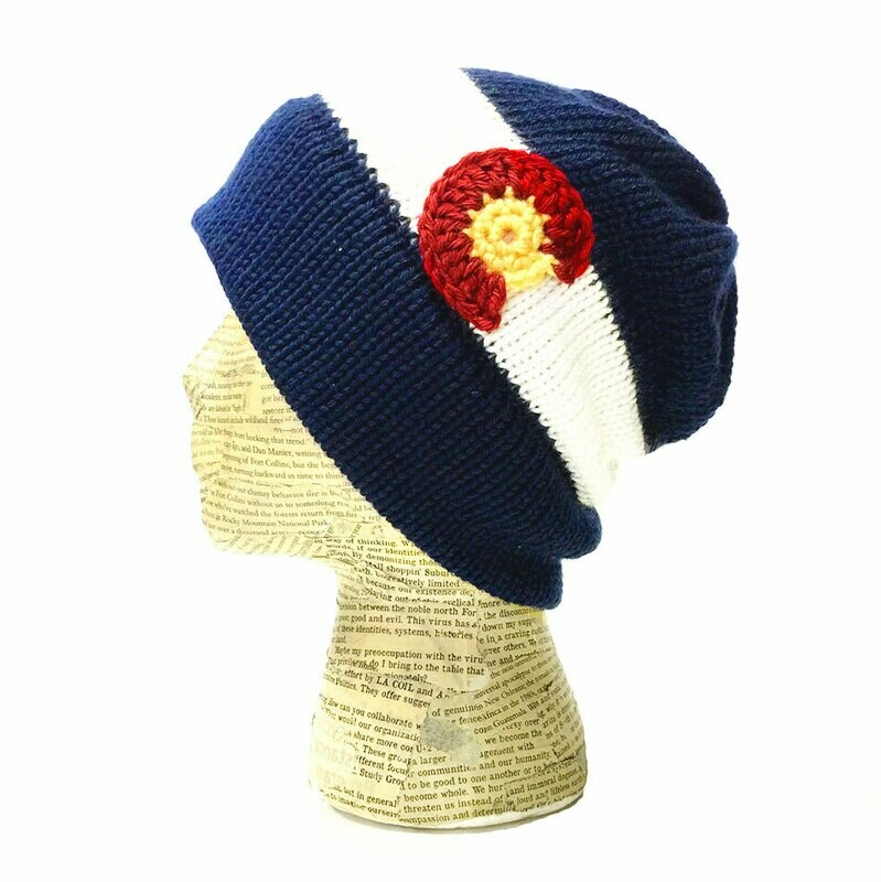 Colorado Flag Knit Beanie