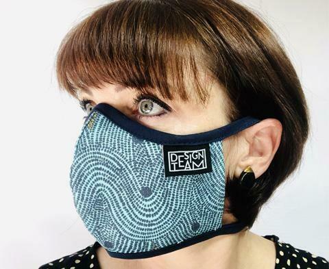 Design Team Mask - Crop Field Aqua