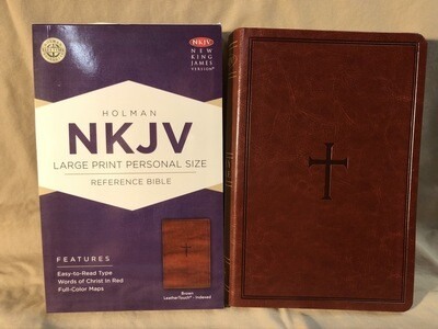 NKJV Brown cross bible