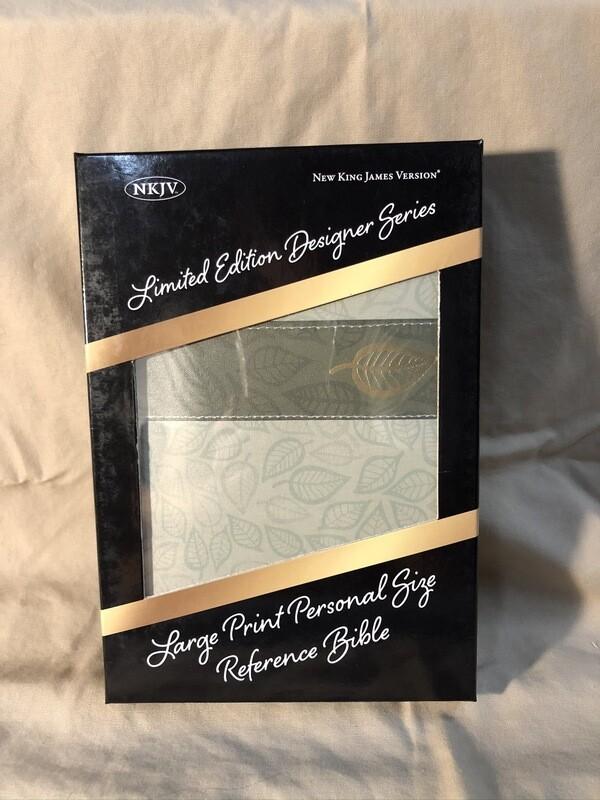 Sage Leaf Linen Bible
