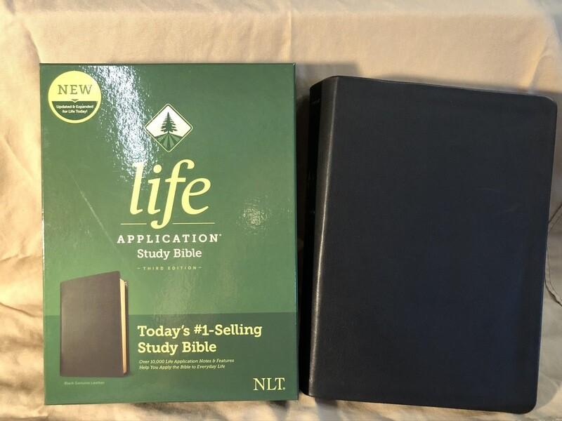 NLT LASB Black Bible