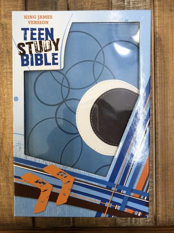 KJV Blue/Brown Teen Study Bible
