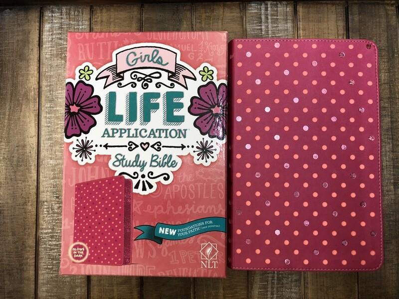 NLT LASB Girls Pink Bible