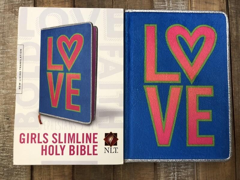 love blue NLT Girls Bible