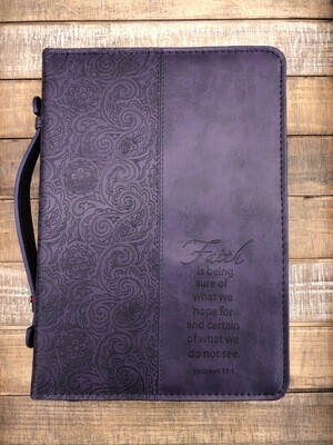Faith Large Purple Bible Cover