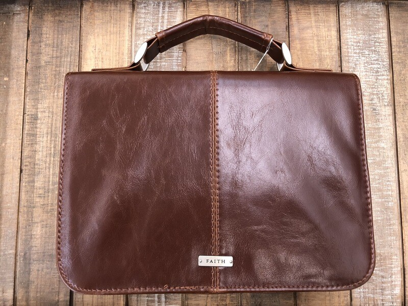 Classic Faith Bible Cover in Brown