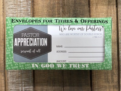 We love our pastor Envelopes