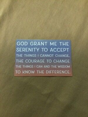 Grant Me The Serenity Card